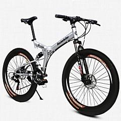 billige Sykler-Foldesykkel Fjellsykkel Sykling 21 Trinn 26 tommer (ca. 66cm)/700CC SHINING SYS Dobbel skivebremse Sykkelramme Med Bak Fjær