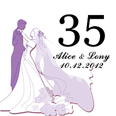 cheap Place Cards & Holders-Personalized Square Table Number Card--Wedding (Set of 10)
