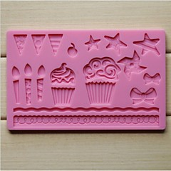 billige Bakeredskap-mote silikon kake blonder fondant sjokolade dekorere matte mold kjøkken bakeware baking matlaging verktøy (tilfeldig farge)