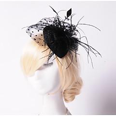 baratos -Mulheres Penas Pérola Rede Capacete-Casamento Ocasião Especial Ao ar Livre Fascinador Chapéus 1 Peça