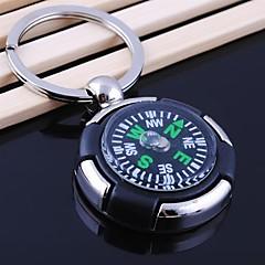 unisex metalliseos rento avaimenperä pyöreä muoto kompassi avaimenperiä
