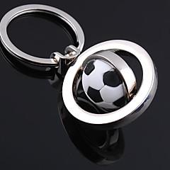 unisex metalliseos rento avaimenperä muoti pyörivät jalkapallo avaimenperiä