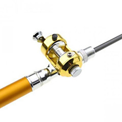 Drum Wheel Pen Shape Fishing Rod + Reel Golden 1m Set