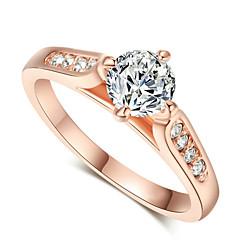 Naisten Tyylikkäät sormukset pukukorut Kristalli Cubic Zirkonia Metalliseos Korut Käyttötarkoitus Häät Party Kihlaus Päivittäin