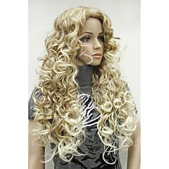 billiga Peruker och hårförlängning-Syntetiska peruker Syntetiskt hår Ombre-hår / Sidodel Blond Peruk Lång svart peruk / Halloween Paryk / Karneval peruk Dagligen