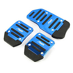 cheap Auto Parts-Aluminum Skid Car Accelerator Pedal Brake Pedal Pedals Suitable For Manual Car (Assorted Colors)