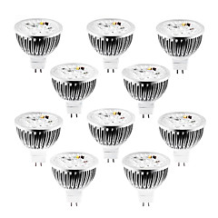 10pcs 4W Dimmable LED Spotlight  GU5.3(MR16) 320lm Warm/Cool/Natural White DC/AC 12V