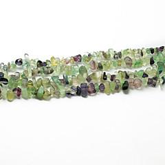 """beadia fluoritt stein perler 5-8mm uregelmessig form DIY løs perler fit kjede armbånd smykker 34 """"/ str"""