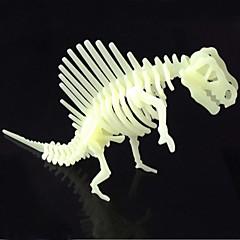 Puzzles 3D - Puzzle Bausteine DIY Spielzeug Dinosaurier ABS Elfenbein Model & Building Toy