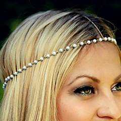 billige Hår Smykker-Dame Elegant Hårbånd - Imiteret Perle Legering Blomst