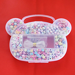 billige Perler og smykkemaking-beadia akryl GDS perler assortert farge og form i plastboks kids leketøy gave tilpasning kjede armbånd smykker