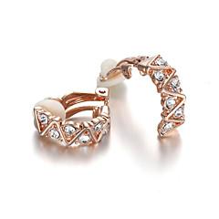Kolczyki z klipsem Kryształ Modny Kryształ Cyrkonia sztuczna Diament Stop Biżuteria Na Ślub Impreza Codzienny Casual 2pcs