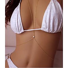 baratos Bijoux de Corps-Crossover Corrente de Barriga / Cadeia corpo / Cadeia de barriga / Colar harness Bikini, Fashion Mulheres Dourado Bijuteria de Corpo Para Diário / Casual