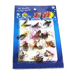 billiga Fiskbeten och flugor-Flugor Fiskbete Fiske krokar Fiske - 12 st pvc Metall - Sjöfiske Färskvatten Fiske Generellt fiske Drag-fiske
