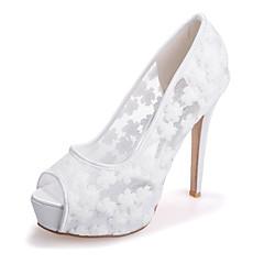 Women's Shoes  Stiletto Heel Peep Toe Sandals Wedding/Party & Evening Black/Blue/Pink/Ivory/White