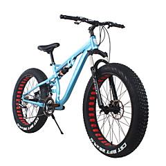 אופני שלג רכיבת אופניים 24 מהיר 700CC/26 אינץ' SHIMANO 65-8 דיסק בלימה כפול מזלג קפיצים מתלה אחורי שלדת זנב קשה רגיל