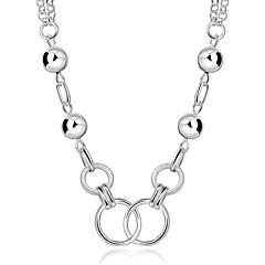 女性 チョーカー ステートメントネックレス ストランドネックレス 円形 幾何学形 合成宝石類 純銀製 ジルコン ファッション ジュエリー 用途 結婚式 パーティー カジュアル スポーツ