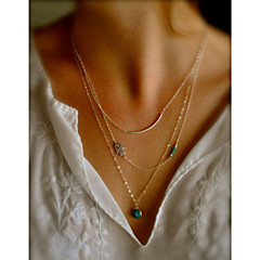 abordables -Femme Mauvais Oeil Mode Collier multi rangs Alliage Collier multi rangs ,