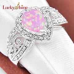 Herre Dame Unisex uttalelse Ringe Krystall Fødselsstein Syntetiske Edelstener Dråpe Smykker Til
