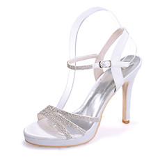 olcso -Női - Nyitott orrú - Esküvői cipők - Szandál - Esküvői / Party és Estélyi -Fekete / Kék / Rózsaszín / Lila / Piros / Elefántcsont / Fehér