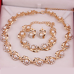 Women's Jewelry Set Fashion Wedding Party Special Occasion Anniversary Birthday Engagement Gift Daily Pearl Alloy Earrings Necklaces