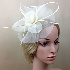cheap Party Headpieces-Net Fascinators Flowers 1 Wedding Special Occasion Headpiece