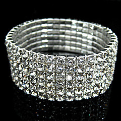 Vintage 6-layer Rhinestone Bridal Jewelry Stretch Bracelet Christmas Gifts
