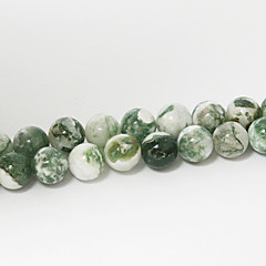 Χαμηλού Κόστους -beadia 39 εκατοστά / str (περίπου 48pcs) φυσικό δέντρο χάντρες από αχάτη 8 χιλιοστά στρογγυλή πέτρα χαλαρά χάντρες DIY εξαρτήματα
