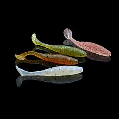 12 kpl Pehmeä syötti Uistin Pehmeä syötti Ruskea Vaaleanpunainen ruohon vihreä Tummanpunainen Sammaleen vihreä Random värit g/Unssi,50 mm/