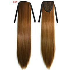 cheap Wigs & Hair Pieces-Straight Synthetic Hair Piece Hair Extension 18 inch #18