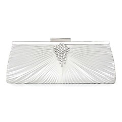 Χαμηλού Κόστους Bags on sale-Γυναικεία Τσάντες Μετάξι Βραδινή τσάντα Απομίμηση Πέρλας / Κρύσταλλο / Στρας Μαύρο / Ασημί / Μπορντό-κόκκινο