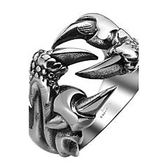 指輪 ステンレス鋼 チタン鋼 ファッション シルバー ジュエリー Halloween 日常 カジュアル スポーツ 1個