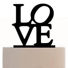 kjærligheten form alfabetet kake topper elegant bryllup mottak