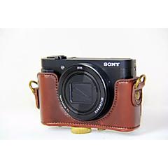 tanie Torby na laptopa-dengpin® pu skórzane etui na aparat fotograficzny torba pokrycie z paskiem na ramię do Sony DSC-hx90v hx90 wx500 (różne kolory)
