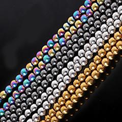 baratos Miçangas & Fabricação de Bijuterias-Jóias DIY Pedra Dourado Preto Prata M Forma redonda Bead faça você mesmo Colar Pulseiras