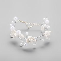 Women's Cuff Bracelet Imitation Pearl/Alloy Imitation Pearl