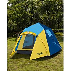 Makino 3-4 사람 텐트 트리플 캠핑 텐트 원 룸 자동 텐트 통풍 잘되는 방풍 비 방지 안티 곤충 통기성 용 하이킹 바닷가 캠핑 야외 1500-2000 mm 옥스포드 CM