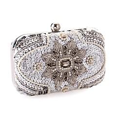 お買い得  Beaded Evening Bags-女性 バッグ オールシーズン ポリエステル 金属 イブニングバッグ スパンコール クリスタル/ラインストーン のために 結婚式 スクリーンカラー
