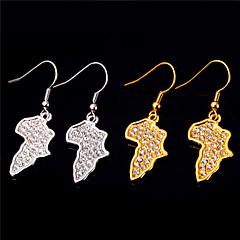 baratos Conjuntos de Bijuteria-Mulheres Diamante sintético Conjunto de jóias - Cristal, Ouro Mapas Africa Incluir Dourado / Prata Para Casamento Diário