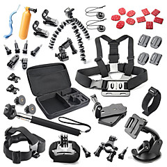 cheap Sports Action Cameras & Accessories  For Gopro-Accessory Kit For Gopro 40 in 1 Waterproof For Action Camera All Action Camera Gopro 5 Xiaomi Camera Gopro 4 Gopro 4 Silver Gopro 4
