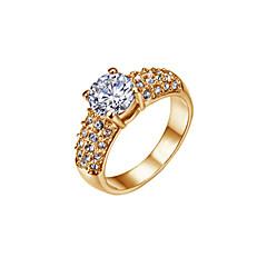Ring Women's Cubic Zirconia Alloy Alloy 6 / 7 / 8 / 9 Gold