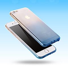 billige Telefoner og nettbrett-Etui Til Apple iPhone 6 iPhone 6 Plus Ultratynn Gjennomsiktig Bakdeksel Fargegradering Myk Silikon til iPhone 6s Plus iPhone 6s iPhone 6