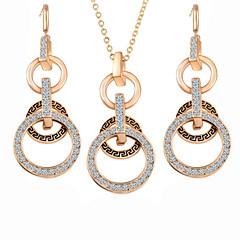 baratos Conjuntos de Bijuteria-Mulheres Zircônia Cubica Conjunto de jóias Brincos / Colares - Festa / Trabalho Cor Ecrã Para