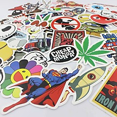 100 stuks / pak willekeurig muziekfilm vinyl skateboard gitaar reistas sticker auto sticker leuke stickers