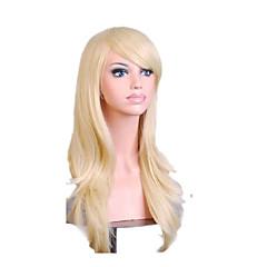 tanie Peruki syntetyczne-Peruki syntetyczne Kędzierzawy Z grzywką Gęstość Bez czepka Damskie Blond Włosy syntetyczne