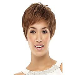 billiga Peruker och hårförlängning-Syntetiska peruker Klassisk / Kinky Rakt Syntetiskt hår Peruk Dam Utan lock