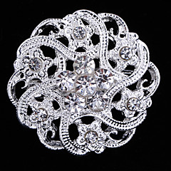 Alloy Rhinestone Brooch for Women Party