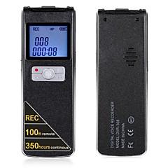 100 Meter drahtlose Fernbedienung und lange Zeit kontinuierliche Aufzeichnung digitaler Sprachrecorder 8GB
