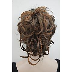 זול קוקו-נתפס עם קליפס קוקו שיער סינטטי חתיכת שיער הַאֲרָכַת שֵׂעָר גלי טבעי