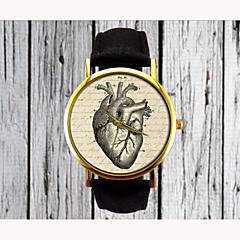 女性用 ファッションウォッチ クォーツ PU バンド Heart Shape